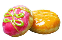 Glazed donuts with filling Stock Photos