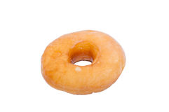 Glazed donuts on over white background. Glazed donuts background image. Macro with shallow dof Stock Images