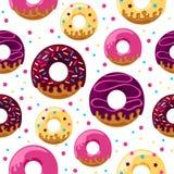 Glazed donuts pattern Royalty Free Stock Photo
