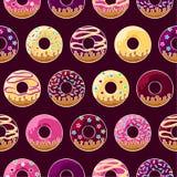 Glazed donuts pattern Stock Photo