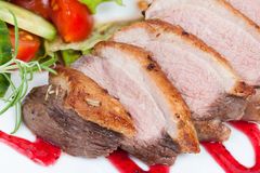 Glazed duck fillet Stock Photo