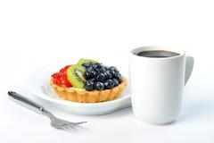 Glazed Fruit Flan Stock Image