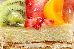 Glazed Fruit Topped Cake Royalty Free Stock Images