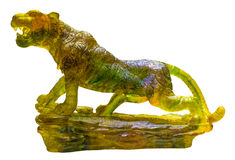 Glazed Glass Panther. Isolate on white background Stock Photography