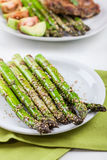 Glazed green asparagus Stock Image