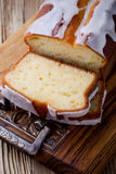 Glazed lemon pound cake Stock Photos