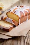 Glazed lemon pound cake Stock Photo