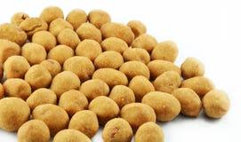 Glazed nuts. Nuts isolated on white background Stock Photo