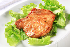 Glazed pork chop Stock Image