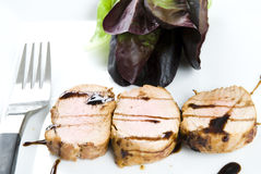 Glazed pork fillet Royalty Free Stock Image