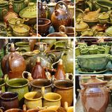 Glazed pottery collection Stock Photos