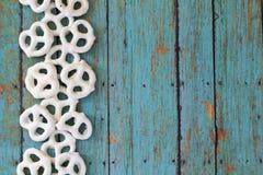 Glazed pretzels Stock Images
