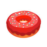 Glazed ring donut, vector Stock Images
