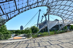 Glazed roof of the Olympic stadium in Munich, Germany Royalty Free Stock Image