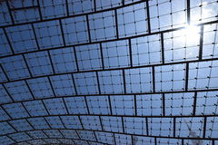 Glazed roof of the Olympic stadium in Munich, Germany Royalty Free Stock Photo