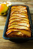 Glazed rustic apple pie Royalty Free Stock Images