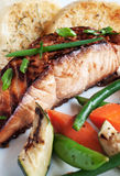 Glazed Salmon Fillet Royalty Free Stock Images