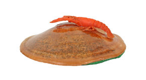 Glazed Shell with Lobster Souvenir Royalty Free Stock Photo