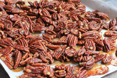 Glazed Spiced Pecans Royalty Free Stock Photography