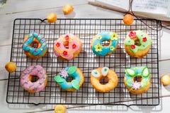 Glazed tasty donuts Stock Photo