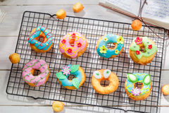 Glazed tasty donuts Royalty Free Stock Image