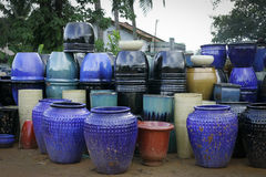 Glazed Terracotta Pots Royalty Free Stock Images
