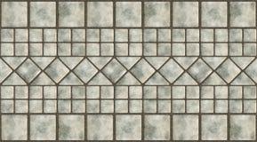 Glazed tile. A illustration of a border with glazed tile Stock Photography