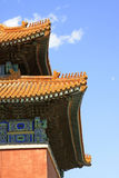 Glazed tile roof in the Eastern Royal Tombs of the Qing Dynasty, Stock Image
