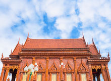 Glazed tile temple in Thailand Royalty Free Stock Photography
