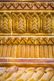 Glazed tile traditional Thai art of church in temple Stock Photo