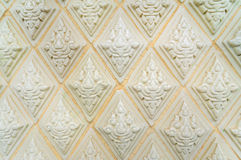 Glazed tile traditional Thai art of church in temple Royalty Free Stock Photography