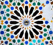 Glazed tiles, azulejos, Alhambra palace in Granada, Spain Royalty Free Stock Photography