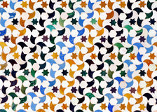 Glazed tiles, azulejos, Alhambra palace in Granada, Spain Stock Images