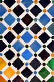 Glazed tiles, azulejos, Alhambra palace in Granada, Spain Royalty Free Stock Photos
