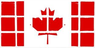 Glazed tiles canada flag Royalty Free Stock Images