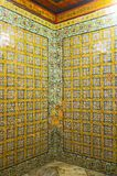 Glazed tiles of Dar Lasram palace Royalty Free Stock Images