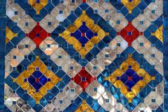 Glazed tiles. The facade of Wat Phra Kaew in Bangkok, Thailand, Asia Royalty Free Stock Image