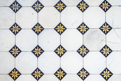 Glazed tiles. Pattern of old Stock Images