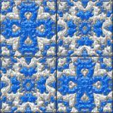 Glazed tiles seamless generated hires texture Stock Image