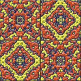 Glazed tiles seamless generated hires texture Stock Photography