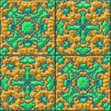 Glazed tiles seamless generated hires texture Stock Photo