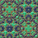 Glazed tiles seamless generated hires texture Royalty Free Stock Photography