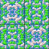 Glazed tiles seamless generated hires texture Royalty Free Stock Images
