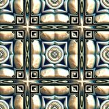 Glazed tiles seamless generated texture Stock Photography