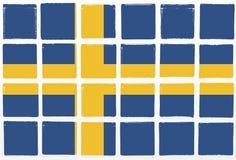 Glazed tiles sweden flag Royalty Free Stock Photography
