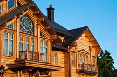 Glazed windows in a luxury house Stock Photos