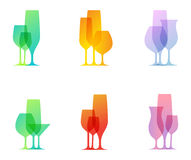 Glazen stock illustratie