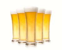 Glazen bier Royalty-vrije Stock Afbeelding