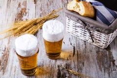 Glazen bier Royalty-vrije Stock Fotografie