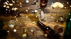 Glazen bier Royalty-vrije Stock Afbeeldingen